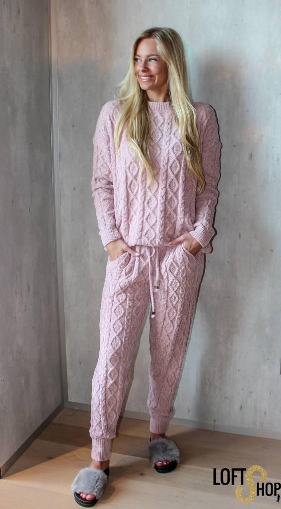 Dins Tricot Huispak Pink TU