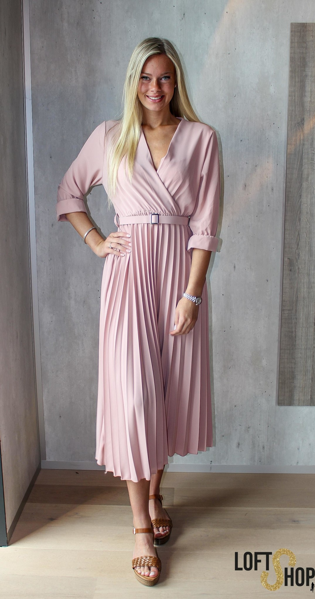 J&D Fashio Dress Elisa Pink TU
