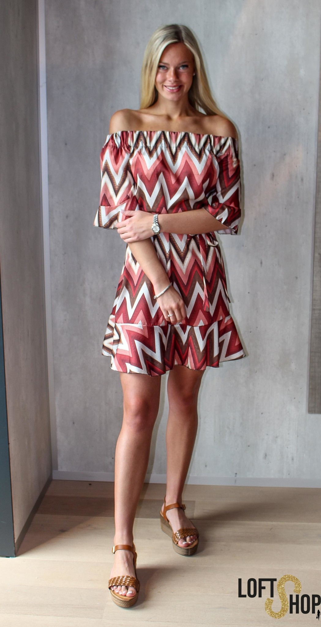 Blu Royal Dress Angele Red TU