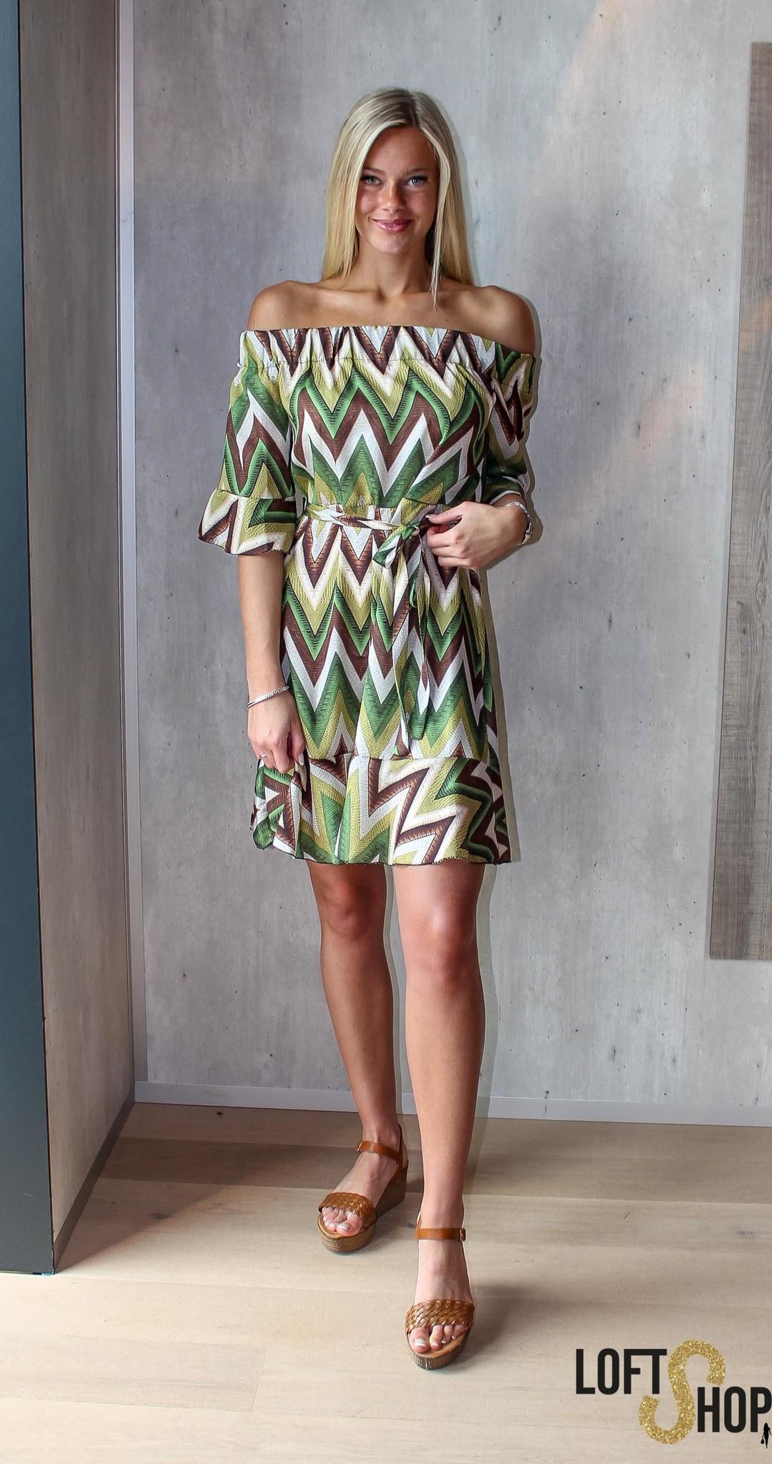 Blu Royal Dress Angele Green TU