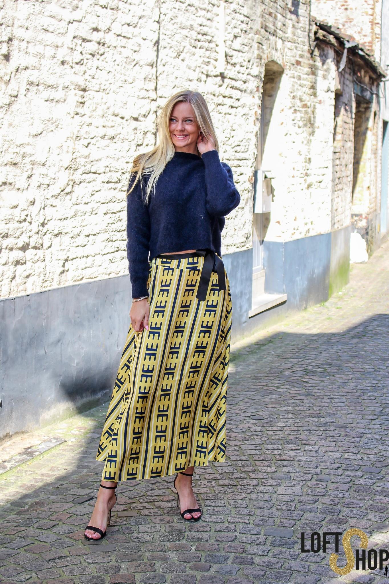 Blu Royal Skirt Kim Yellow TU