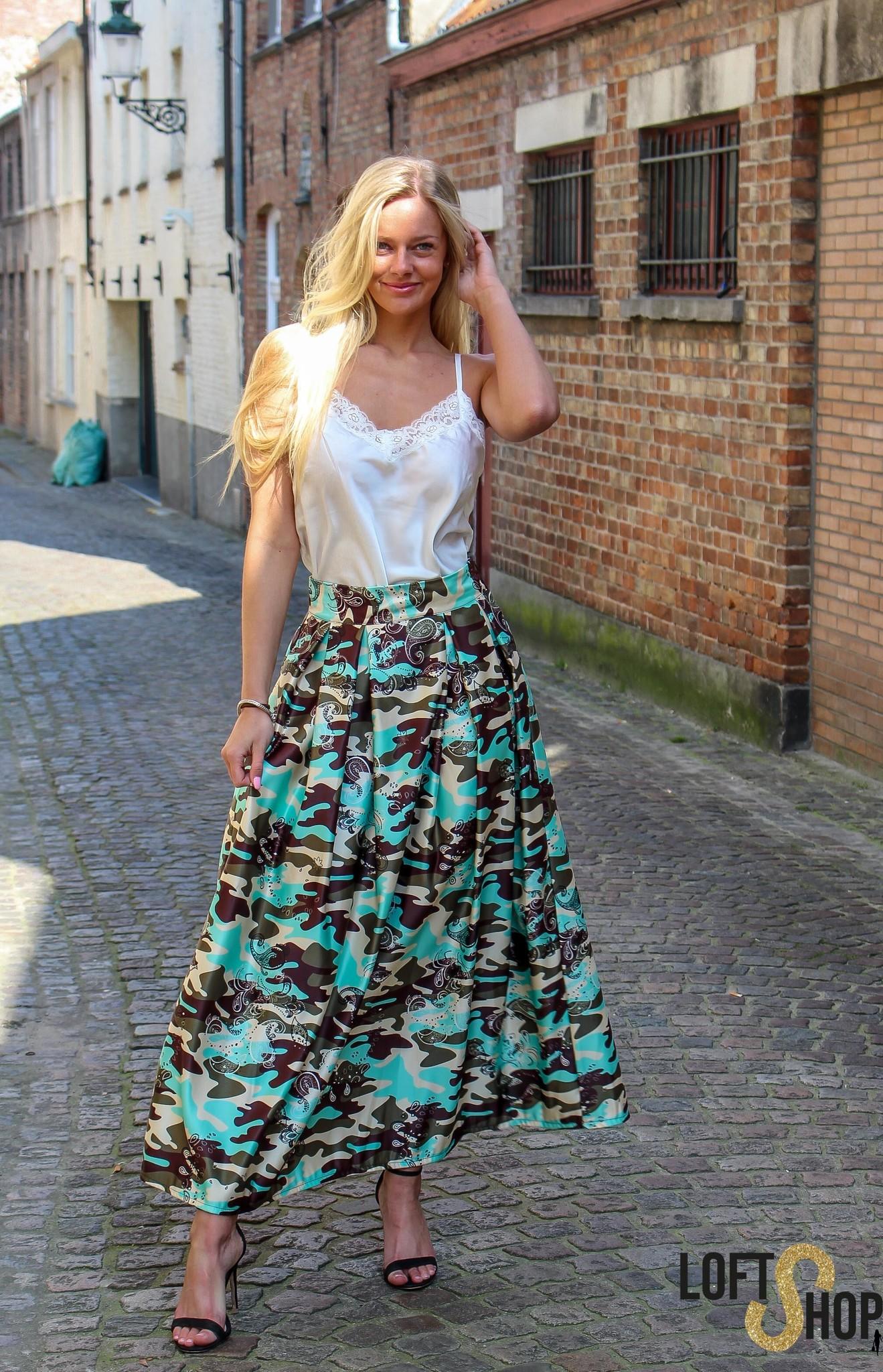 J&D Fashio Skirt Donna Turquoise