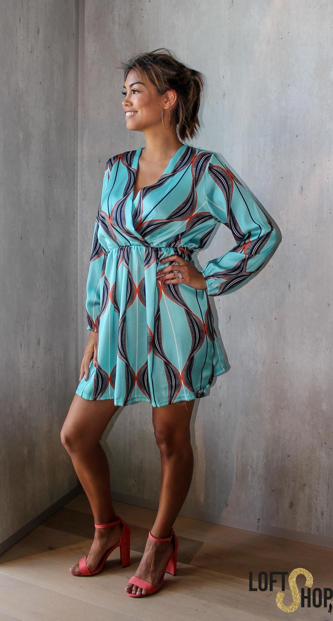 J&D Fashio Dress Wesley Turquoise TU