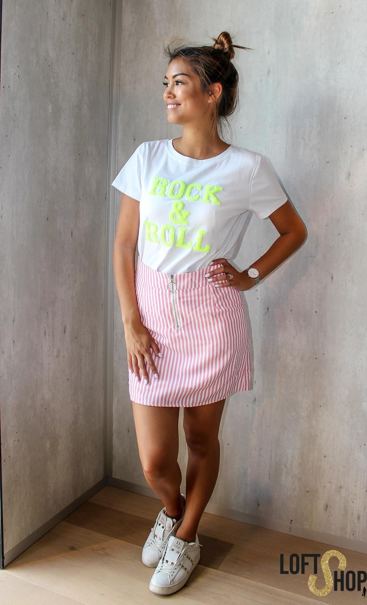 Lisa Fashion T-shirt Rock & Roll White TU