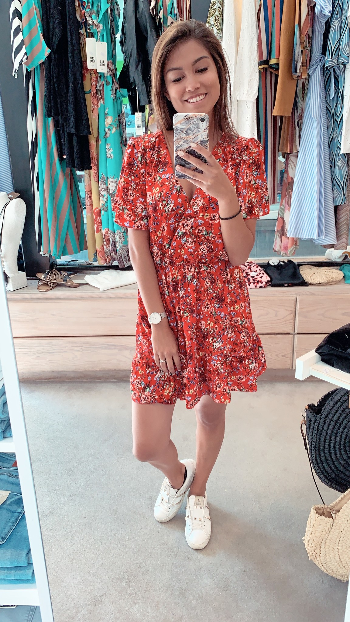 Blu Royal Dress Kayla Red TU
