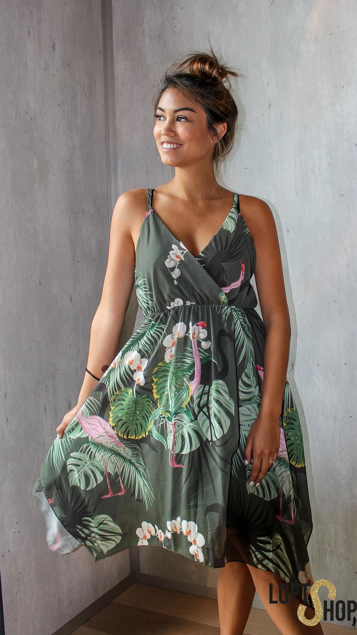 Blu Royal Dress Flamingo Kaki TU