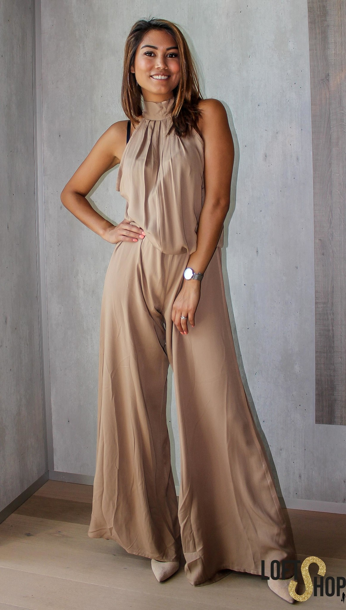 Blu Royal Jumpsuit Yasmine Beige TU