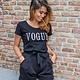 Lisa Fashion T-Shirt Vogue Black