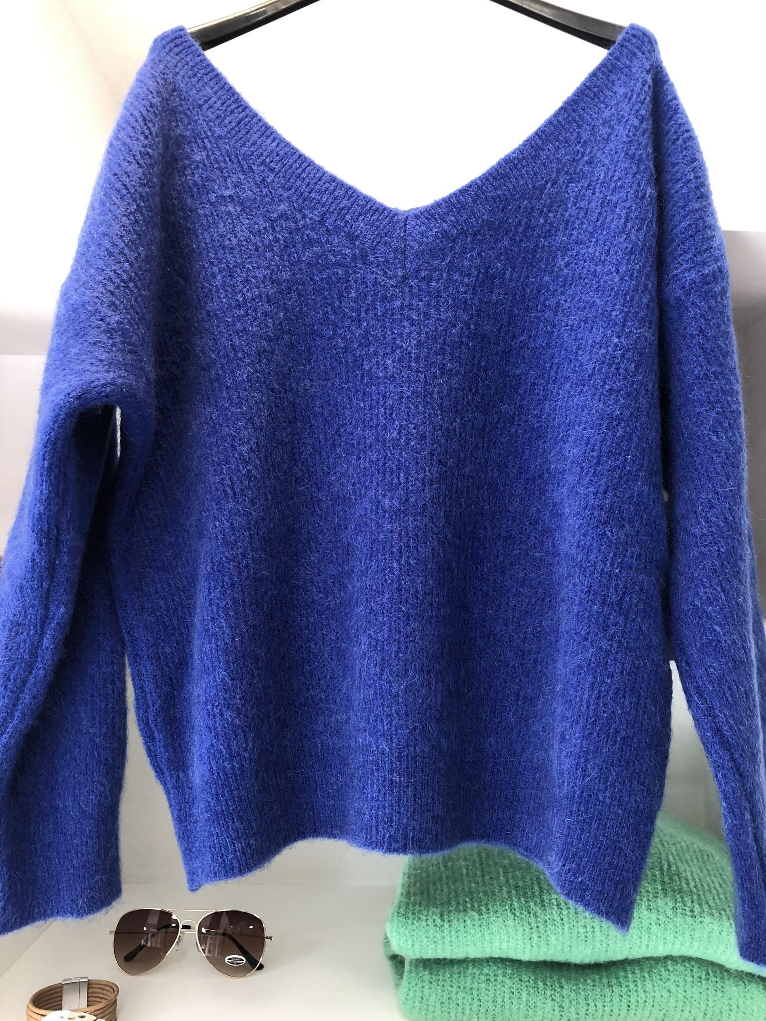 Nais Pull Misty kobalt blue