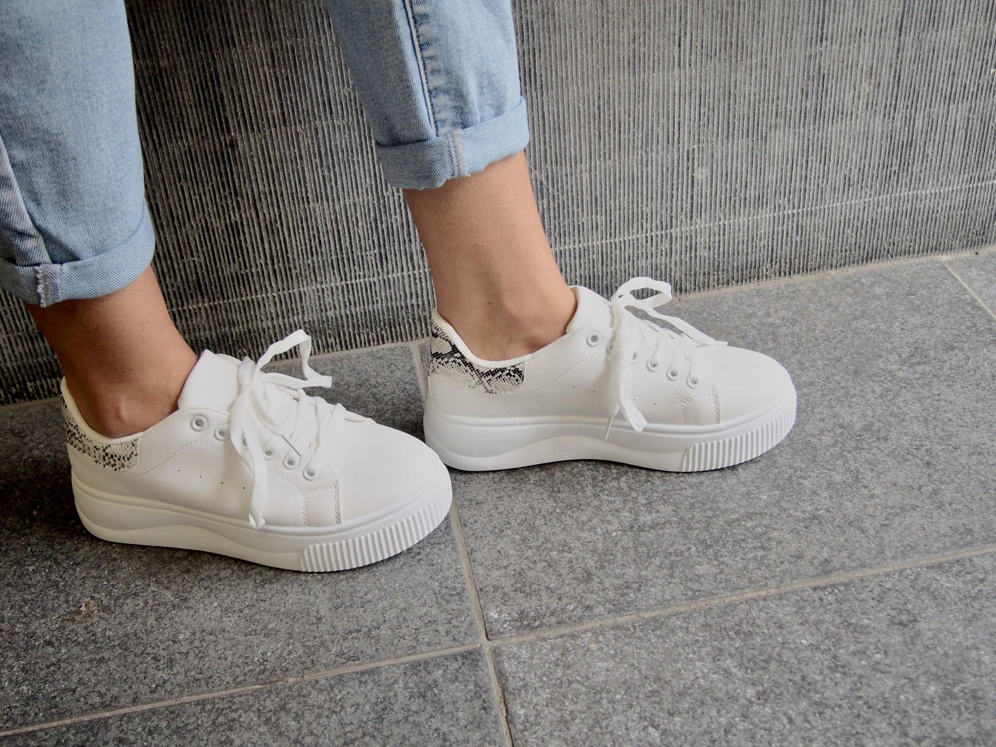 Diva Sneaker white/snake Josje