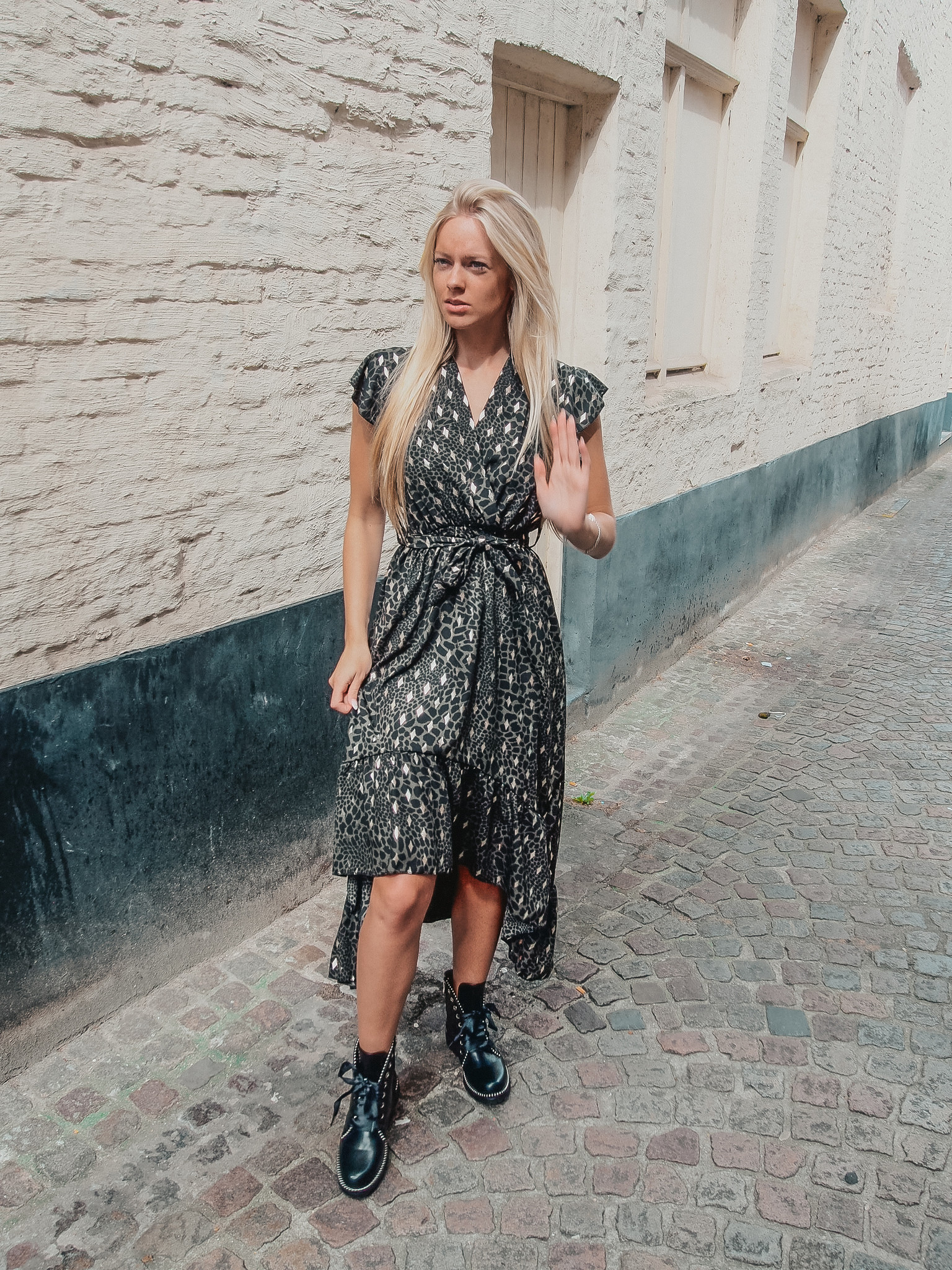 Dress shana kaki print