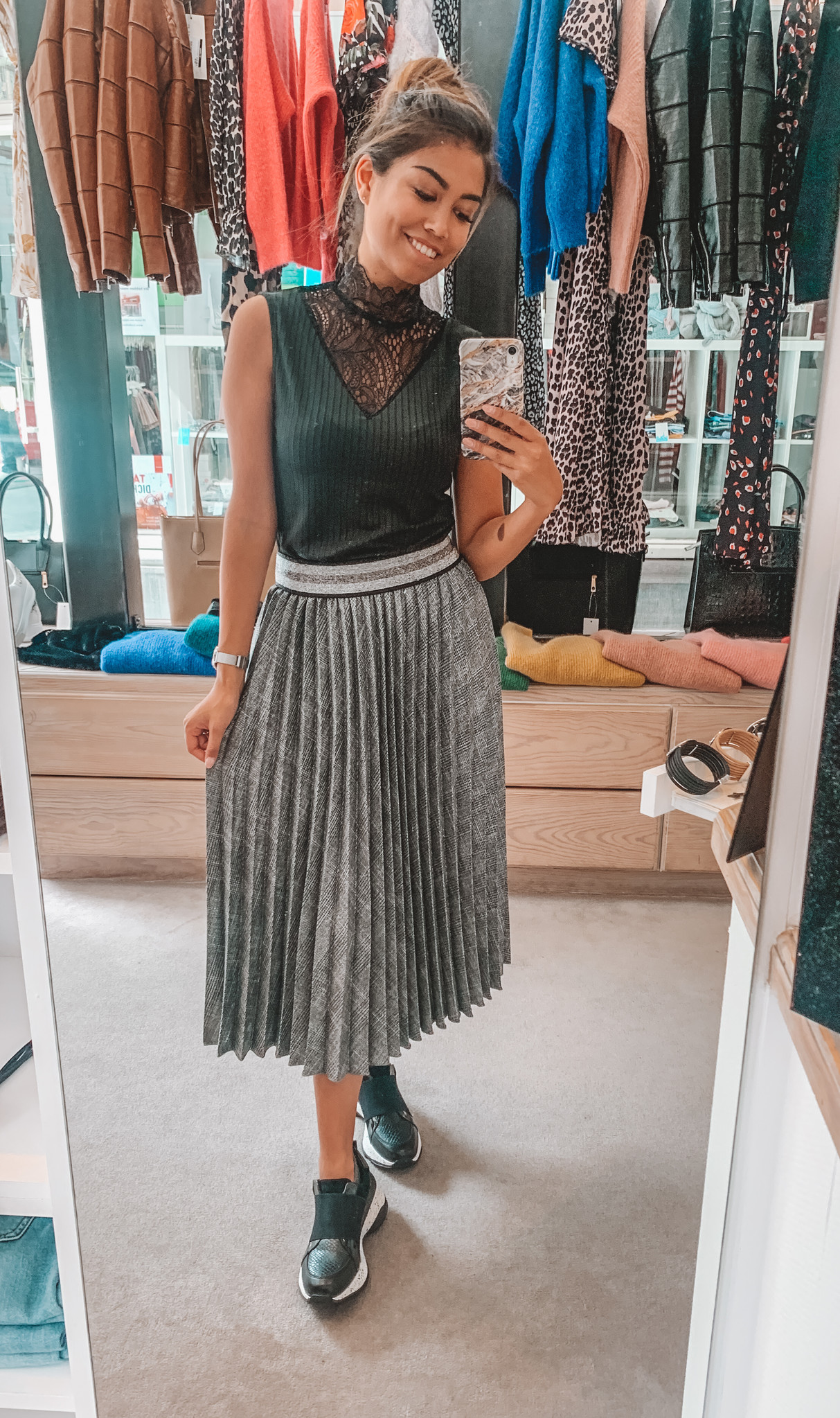 Melanera Pleated Skirt Grey TU