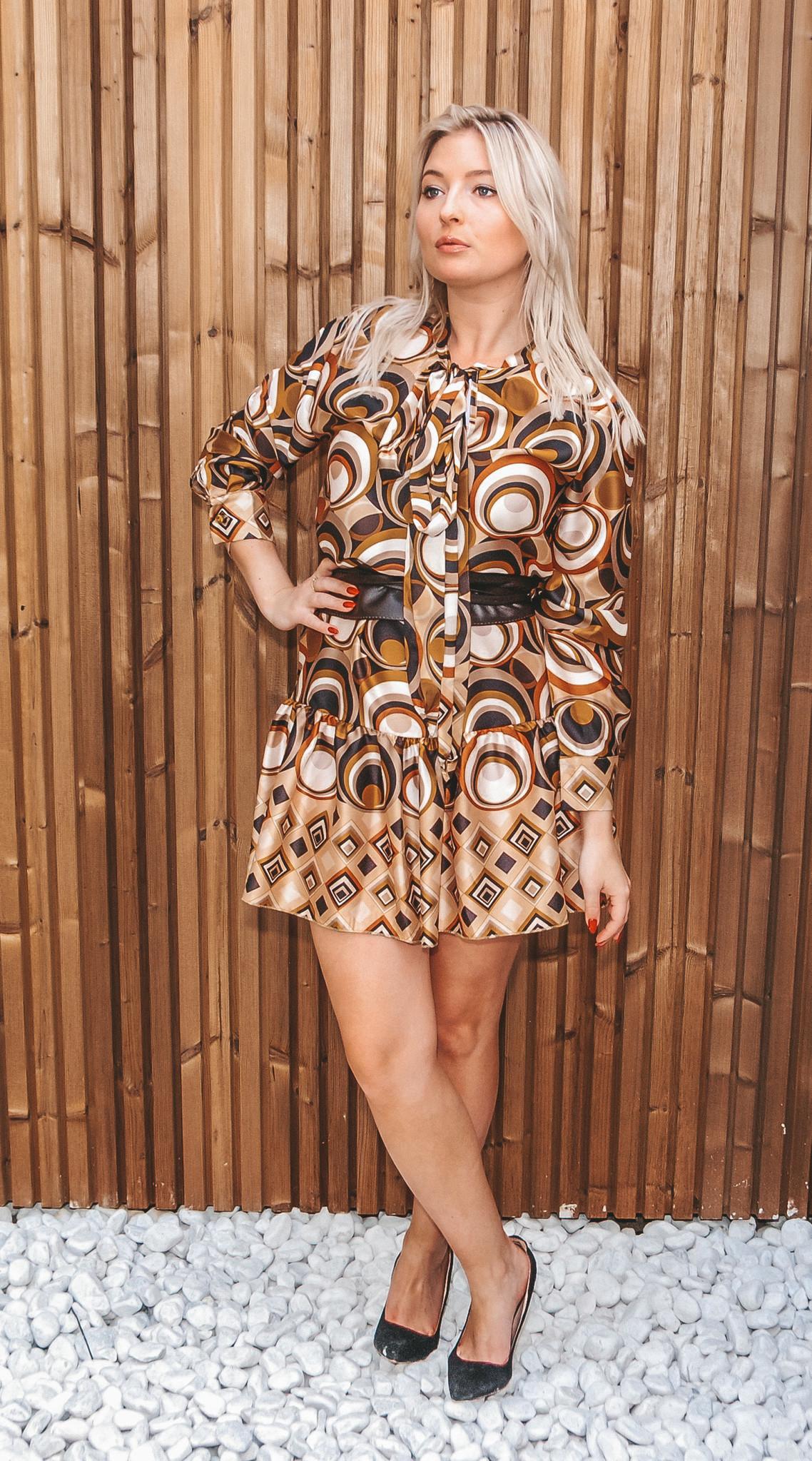 Blu Royal Dress Daphne Camel TU