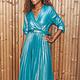 J&D Dress Alana Metallic Blue TU