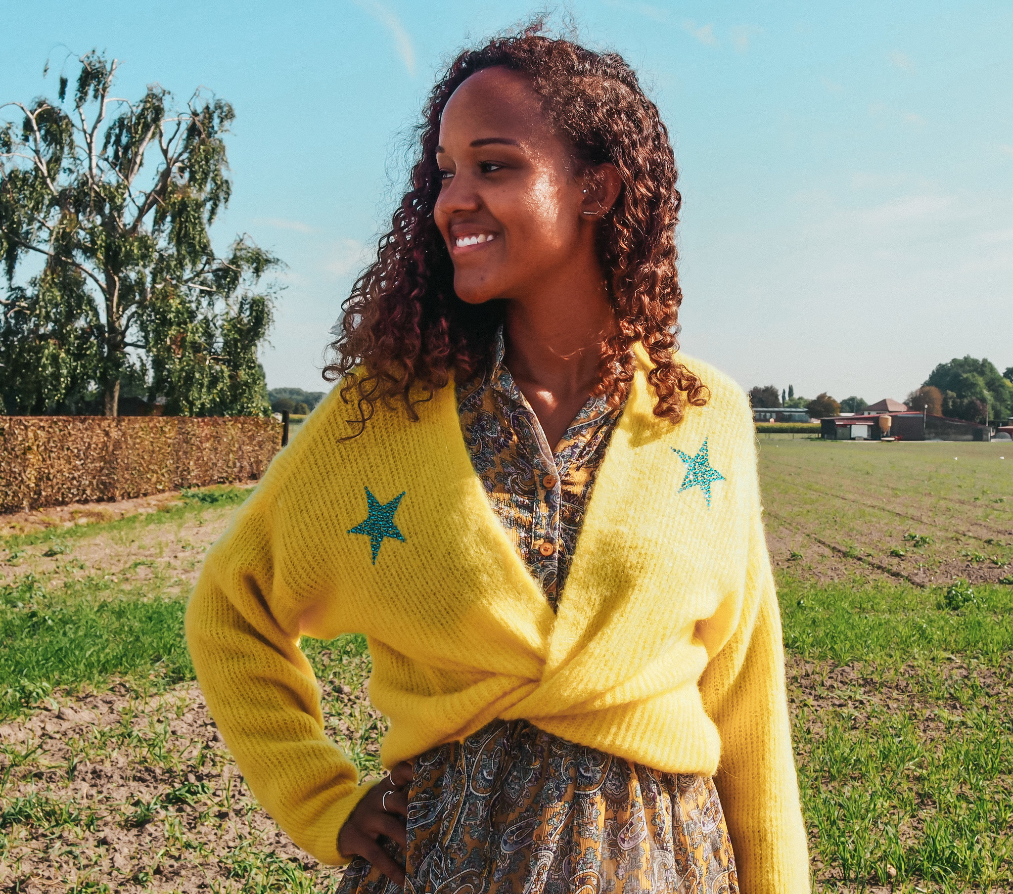 Joleen Gilet Stella Yellow TU