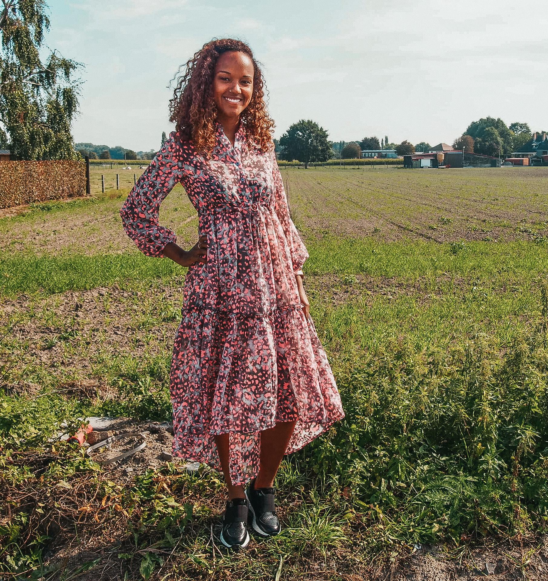 Joleen Dress Stella Pink/Grey TU