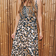 Plums Dress Leopard Kaki Lang