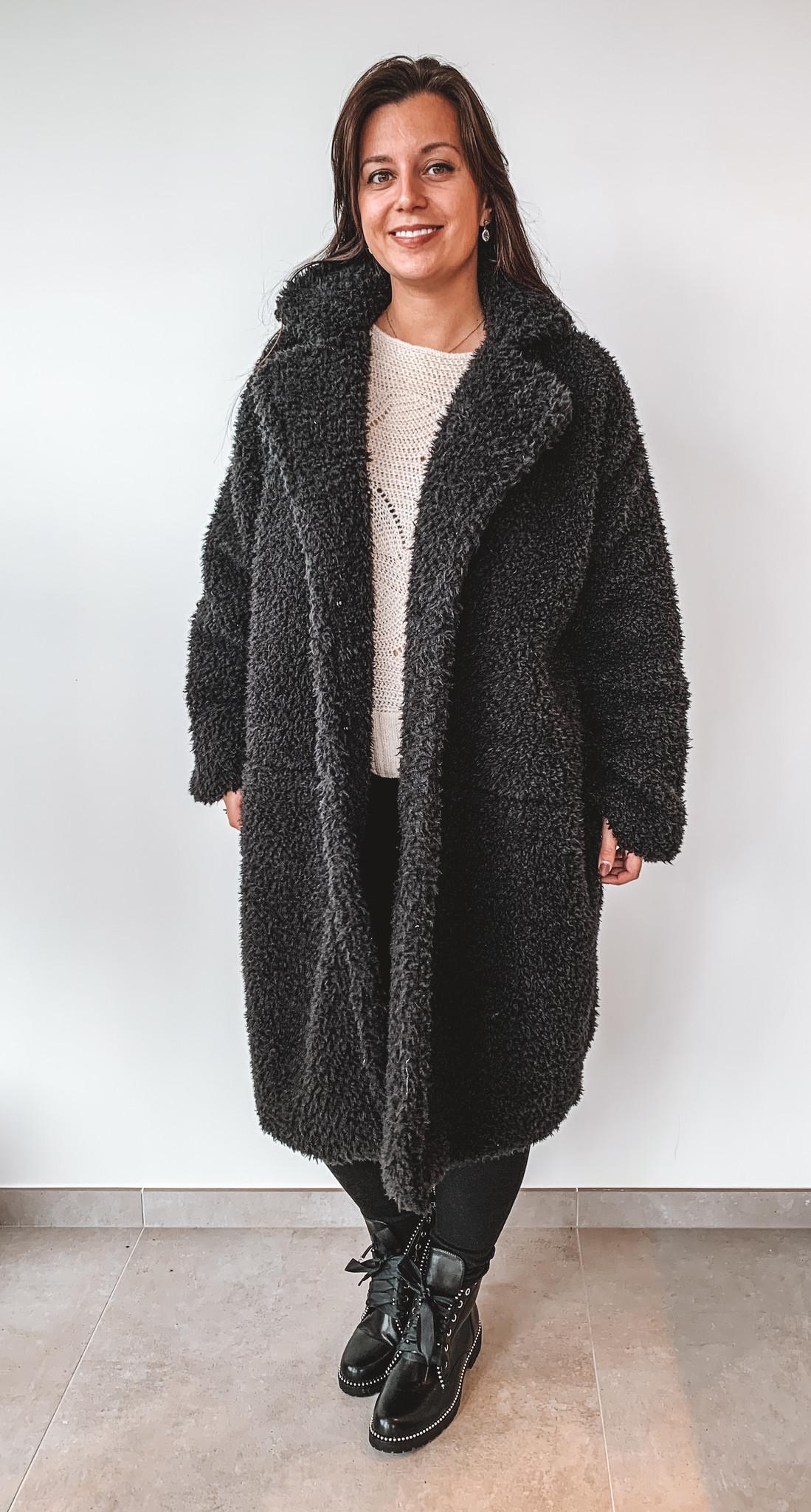 New Beauty Teddy Coat Kylie Black TU