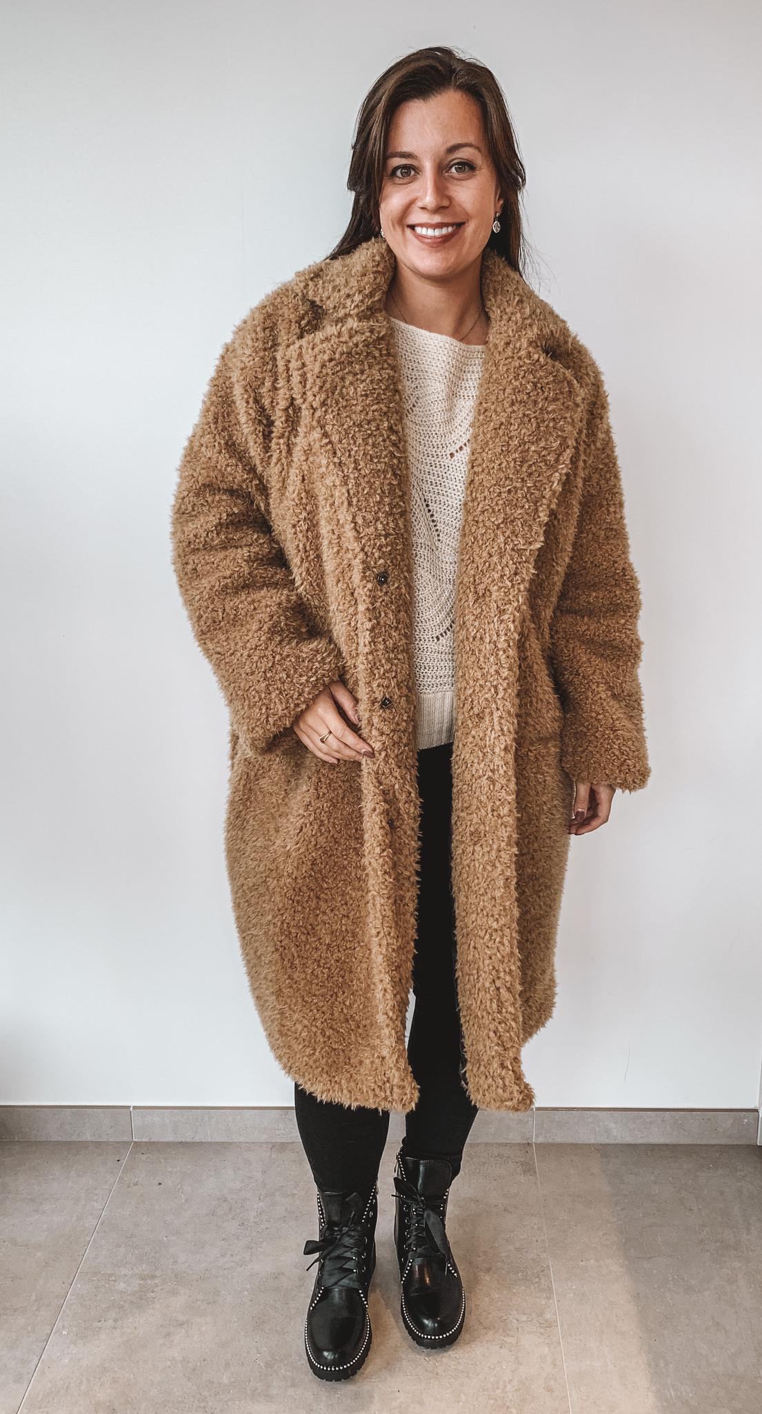 New Beauty Teddy Coat Kylie Beige TU