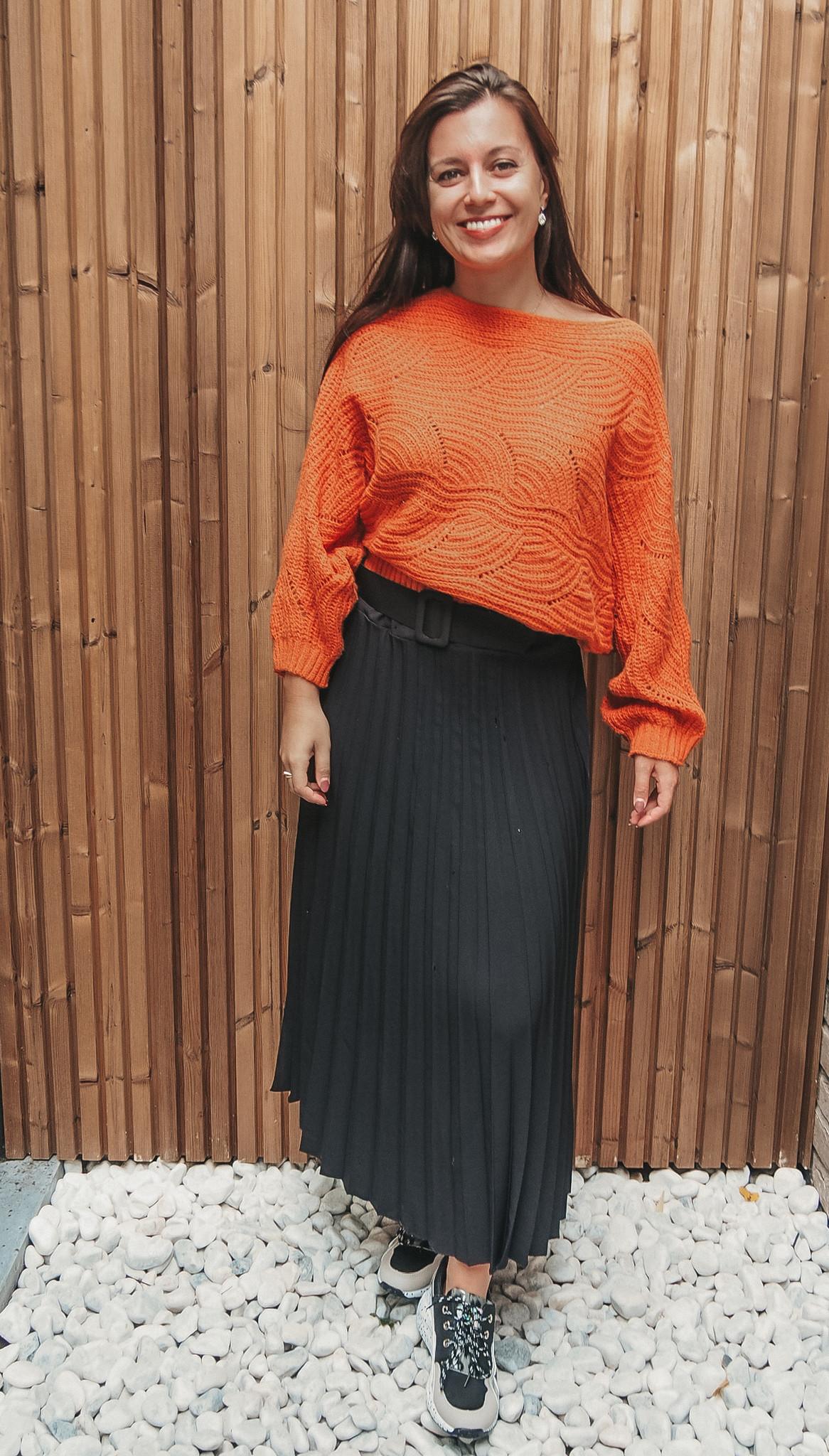 J&D Skirt Pleated Black TU