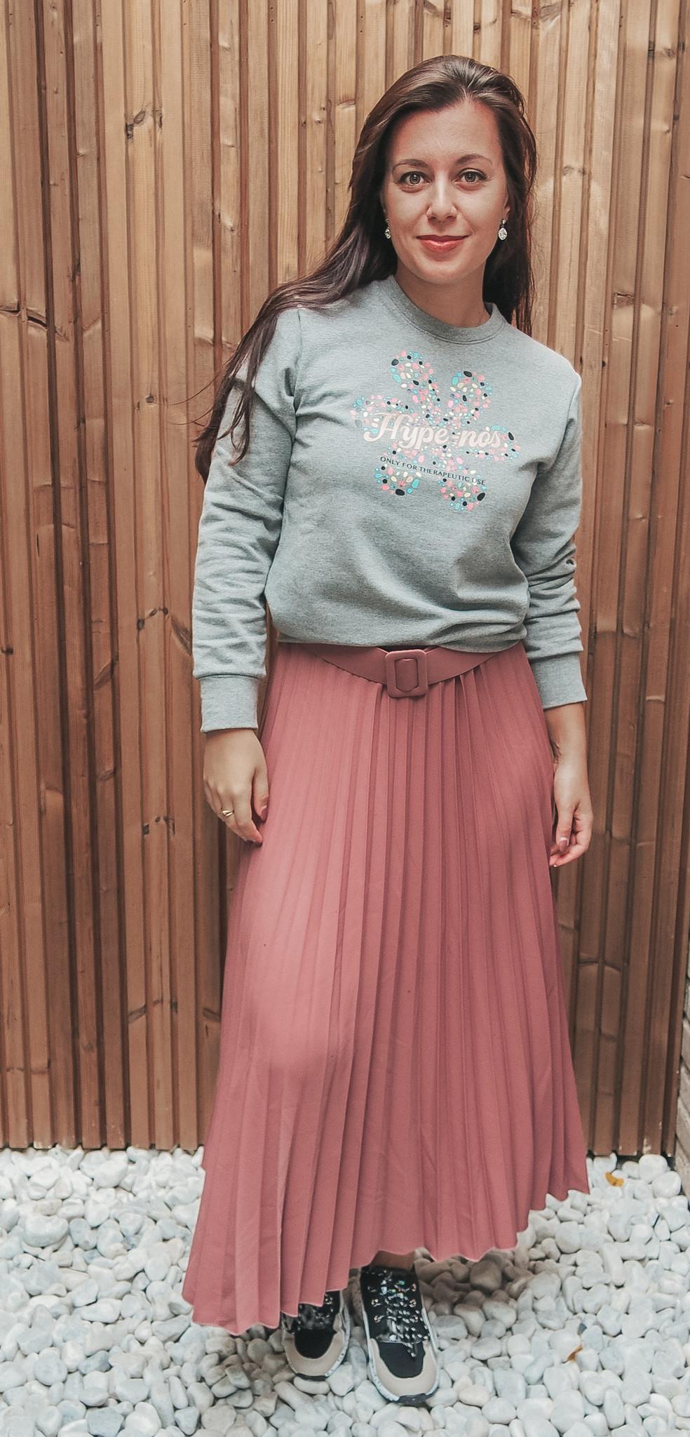 J&D Skirt Pleated Pink TU