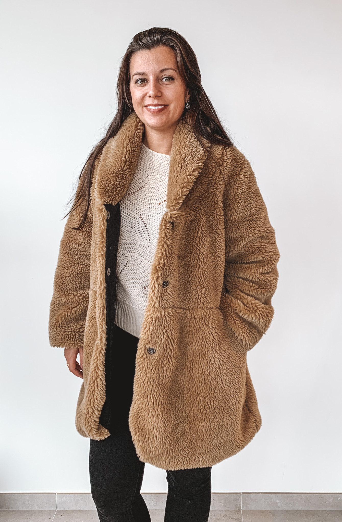 New Beauty Teddy Coat Sofie Beige TU