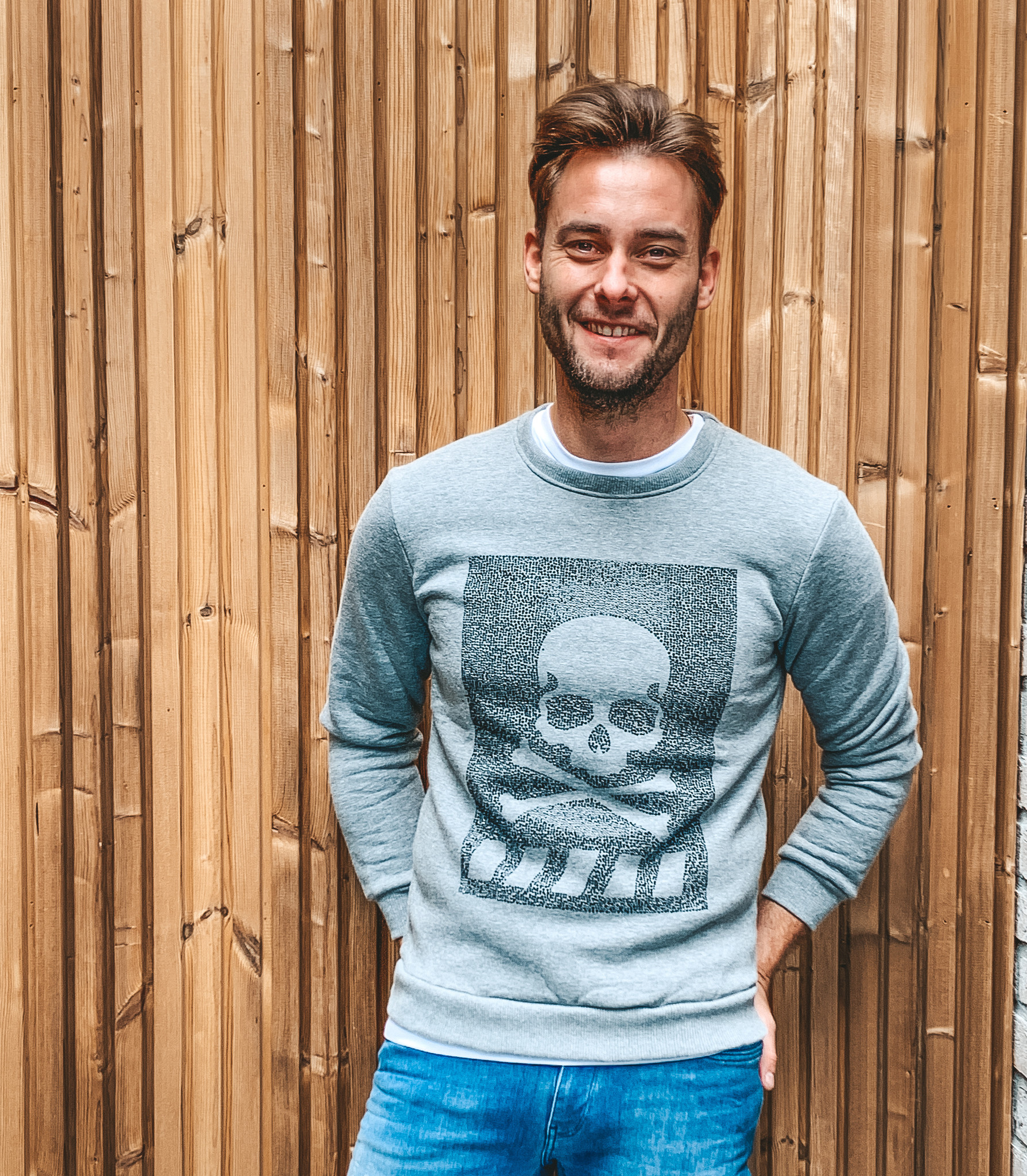 Yoki Sweater Skull Grey