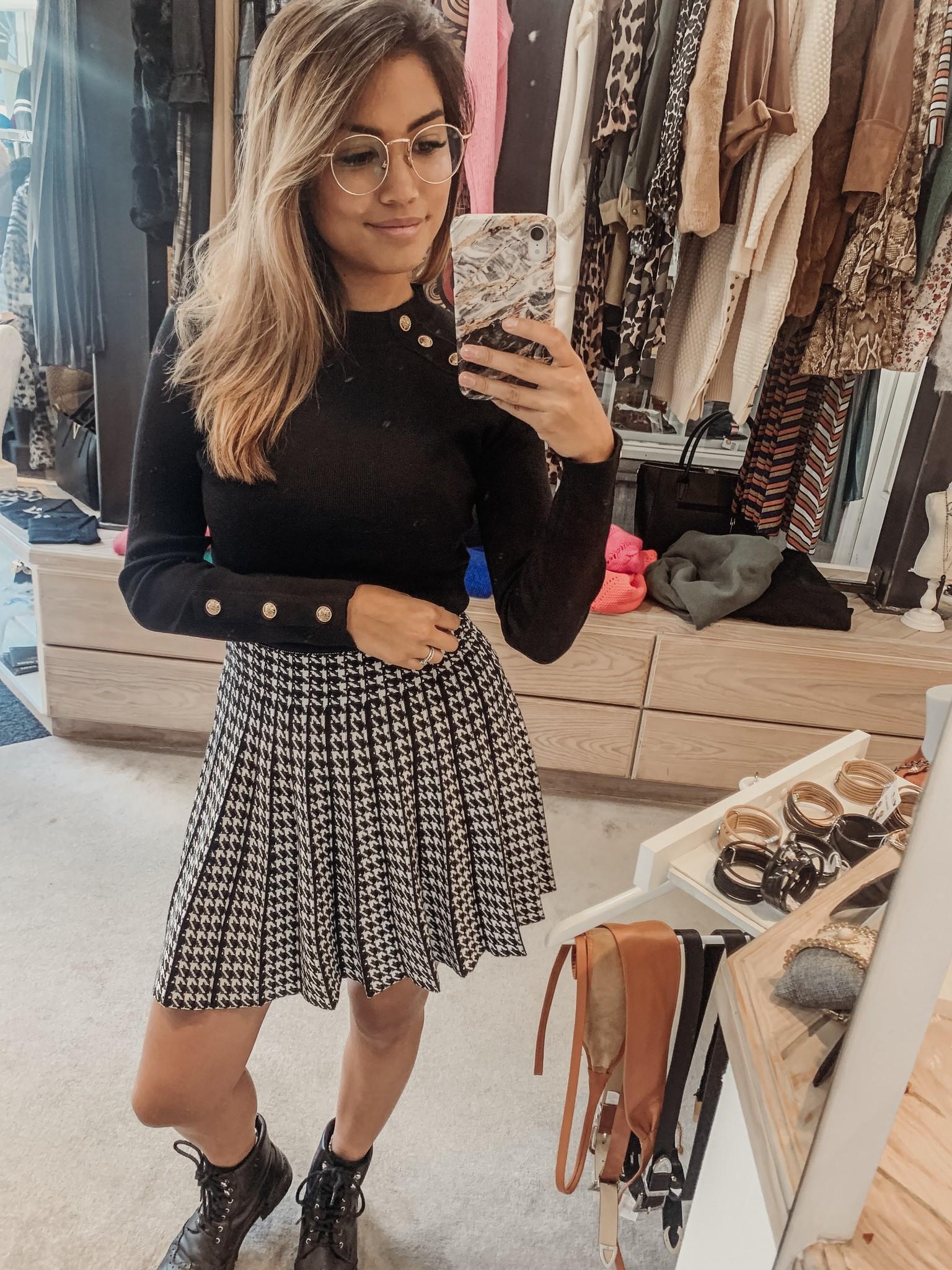 Lisa Fashion Skirt Pied Poule