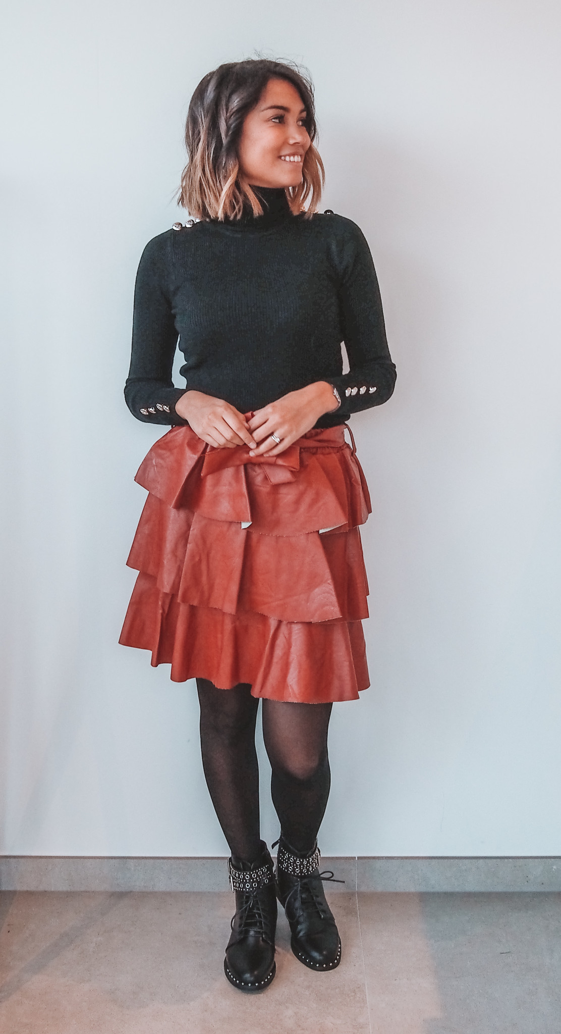 Leather Skirt Lucile Roest TU