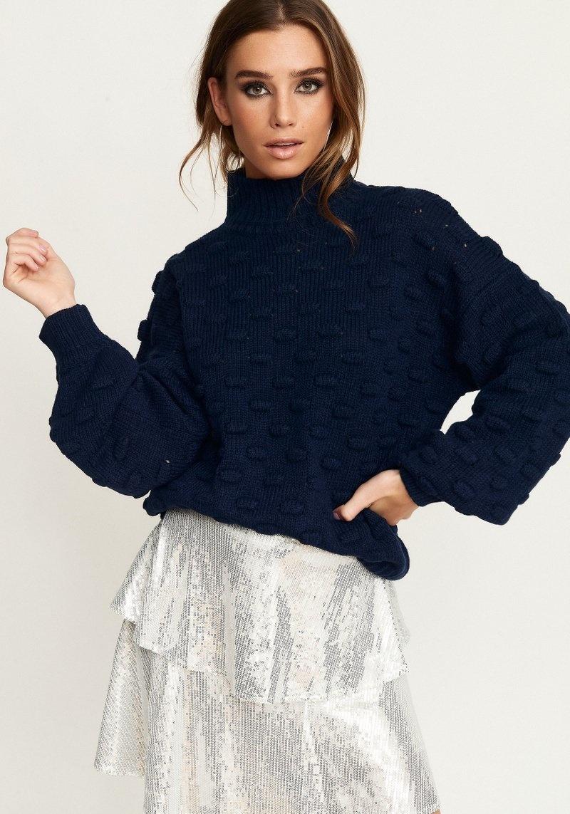 Liza Jacquard Knit - Midgnight Navy