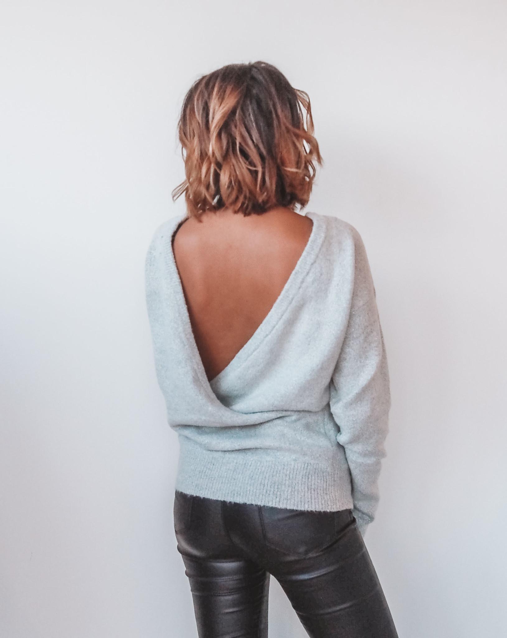 Marie Glitter Knit - Grey/Silver