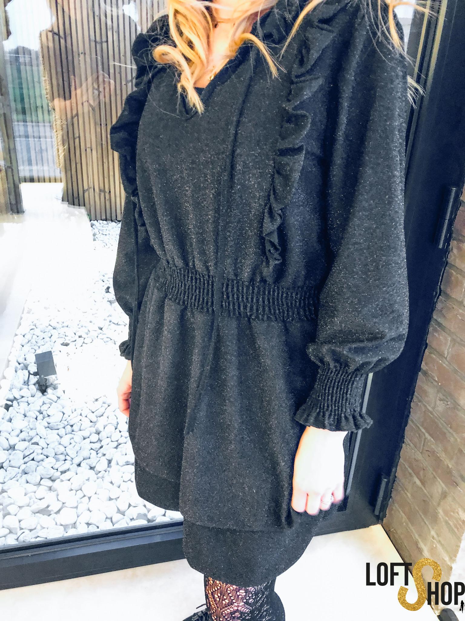 Zwarte jurk met glitter