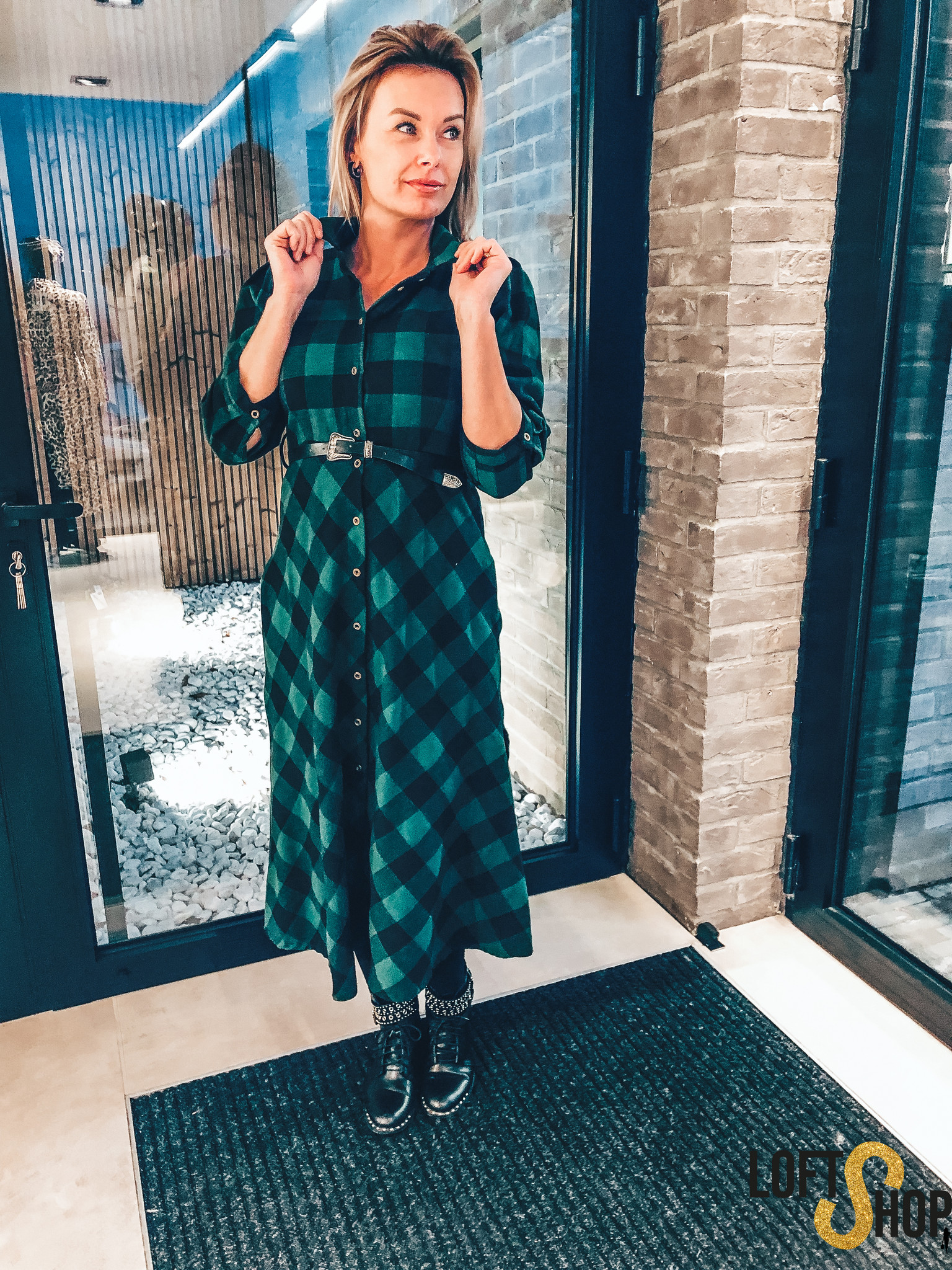 Dress Check Long Green TU