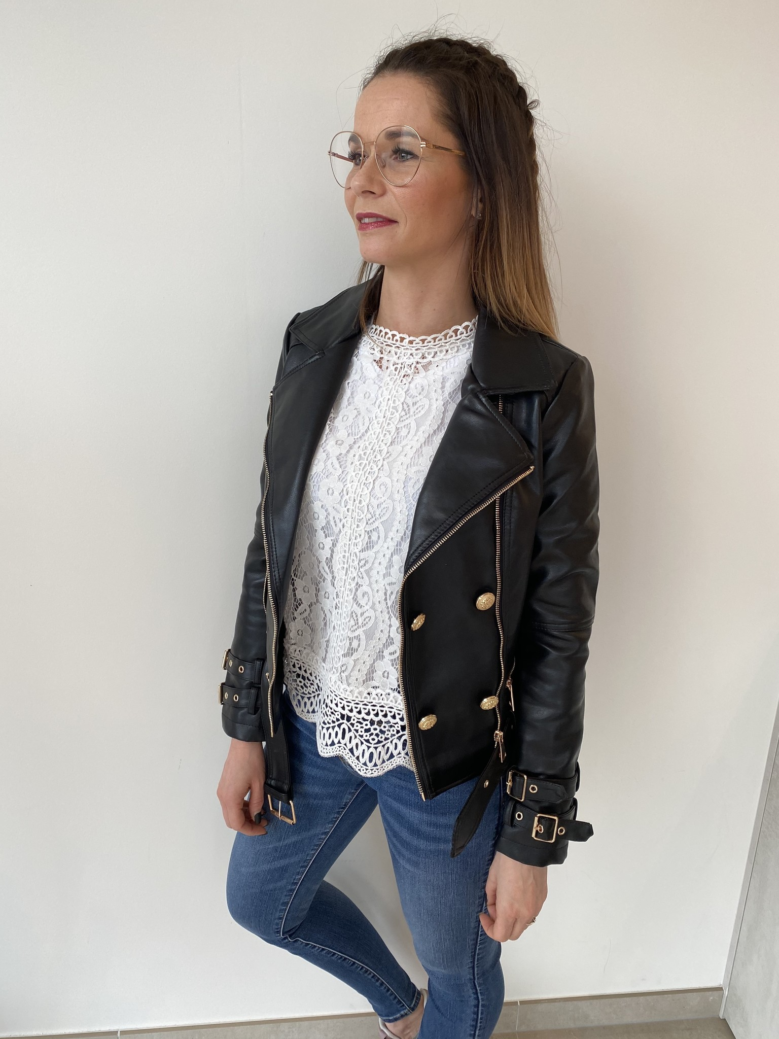 Biker gold jacket Laure