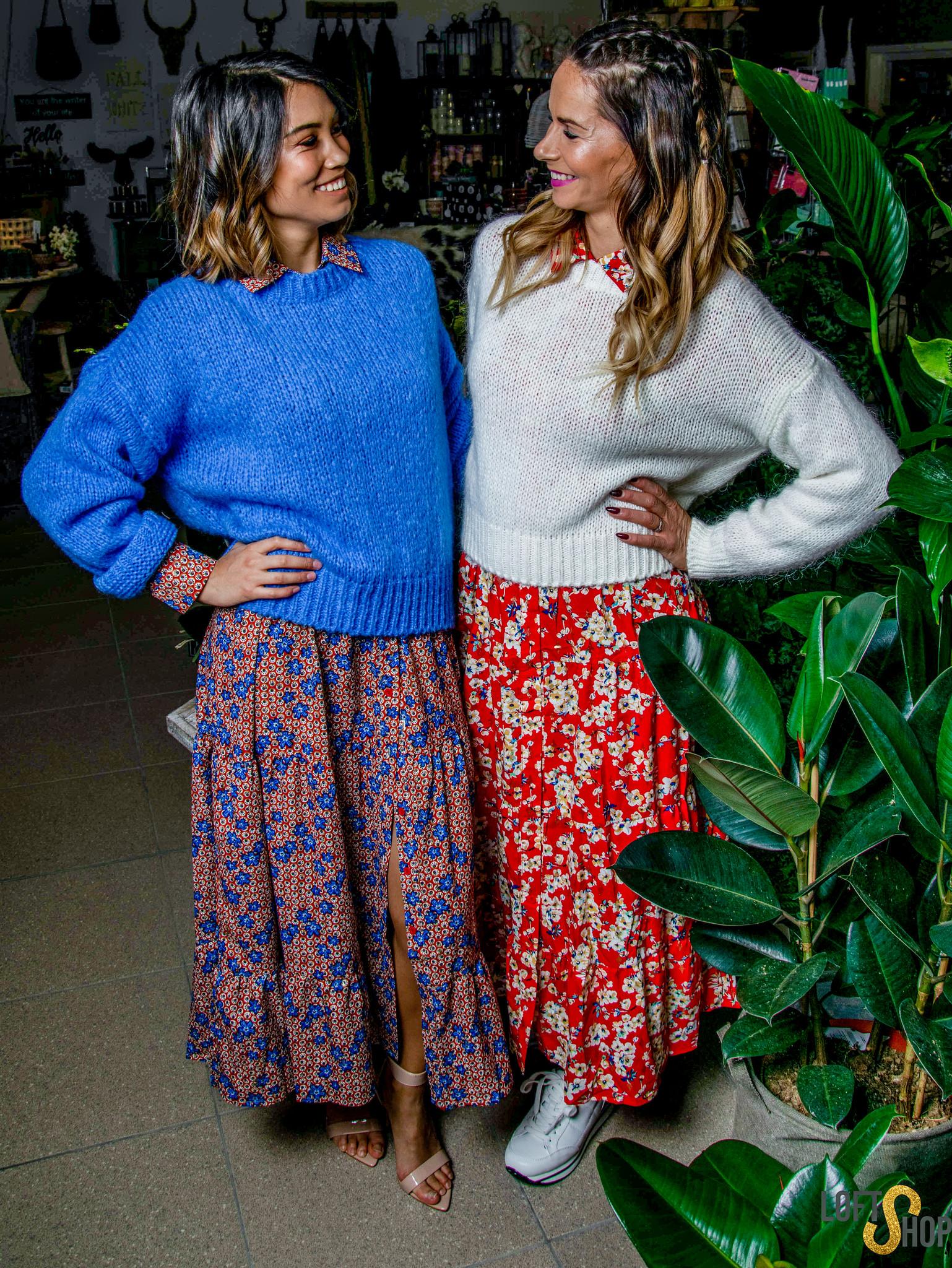 Dress Jill Rood/Blauw