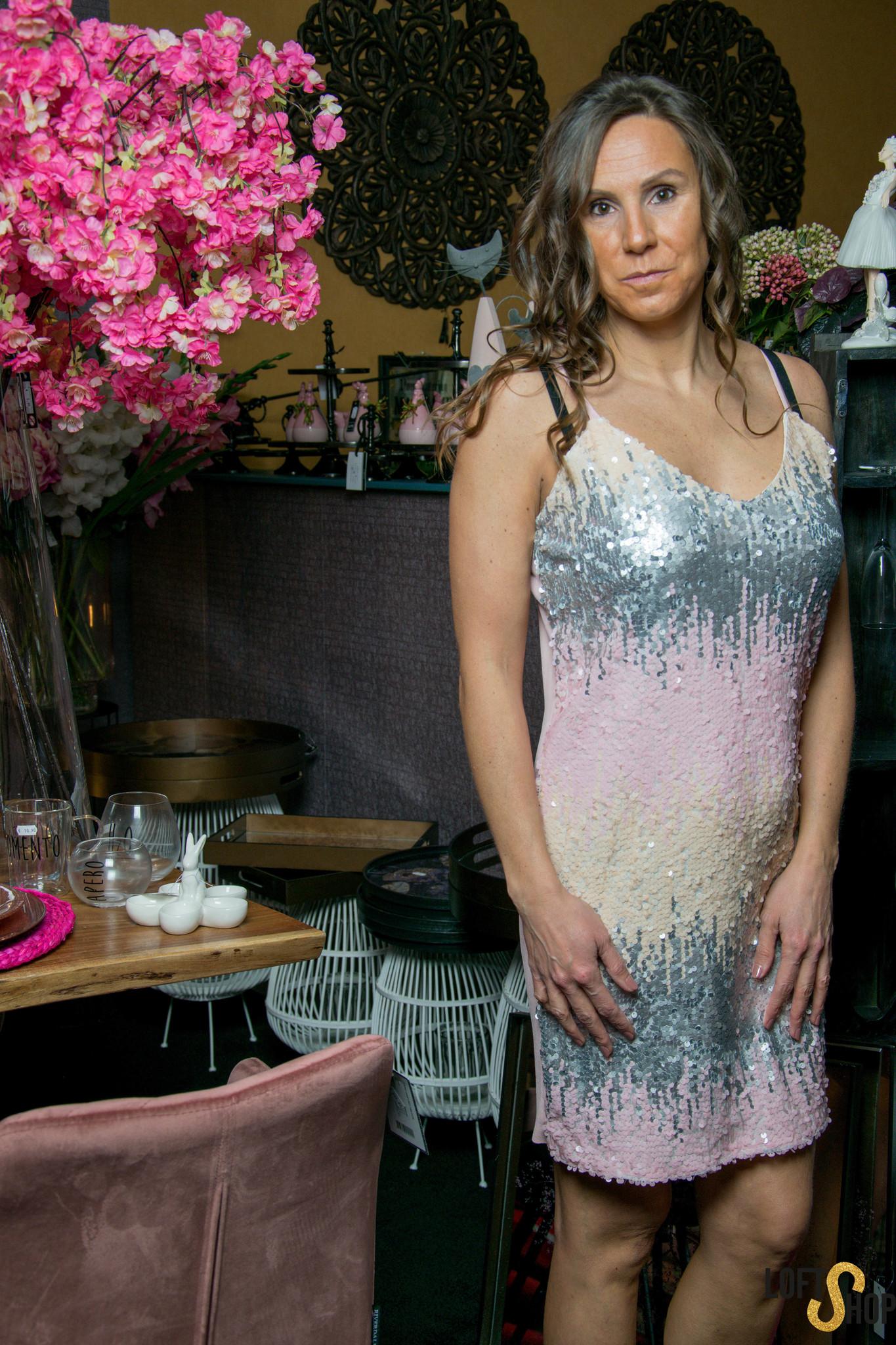 Dress Paillette Pink