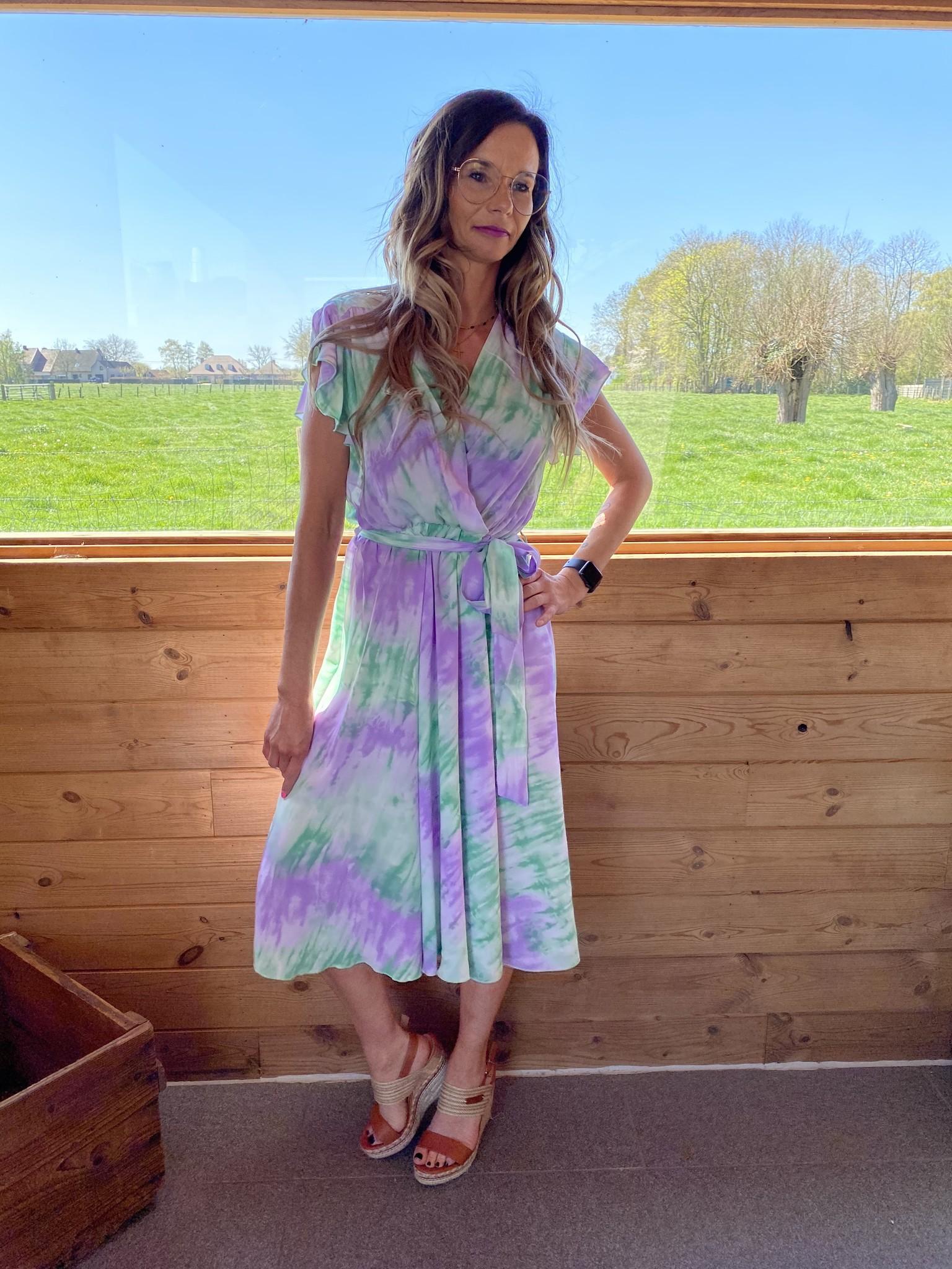 Dress Kirsten Green/purple