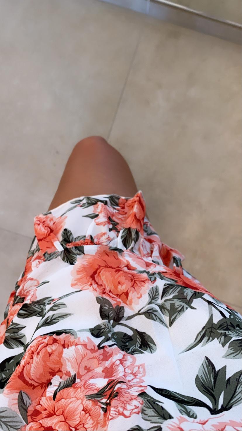 Dress Zara big red flowers