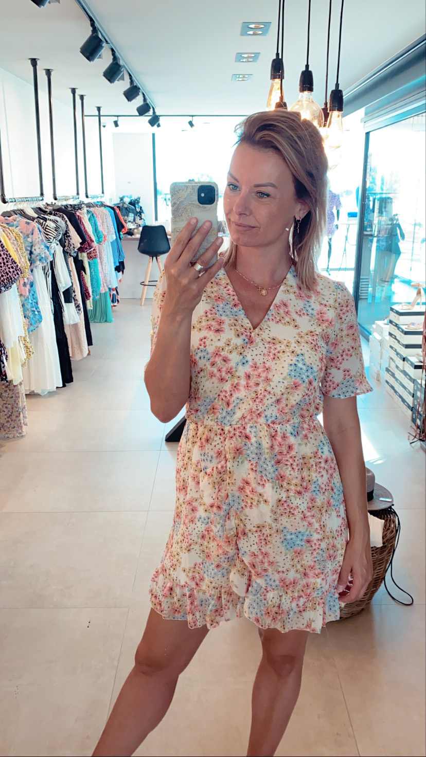Dress Zara blue/pink flowers