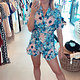 Playsuit flower blue TU