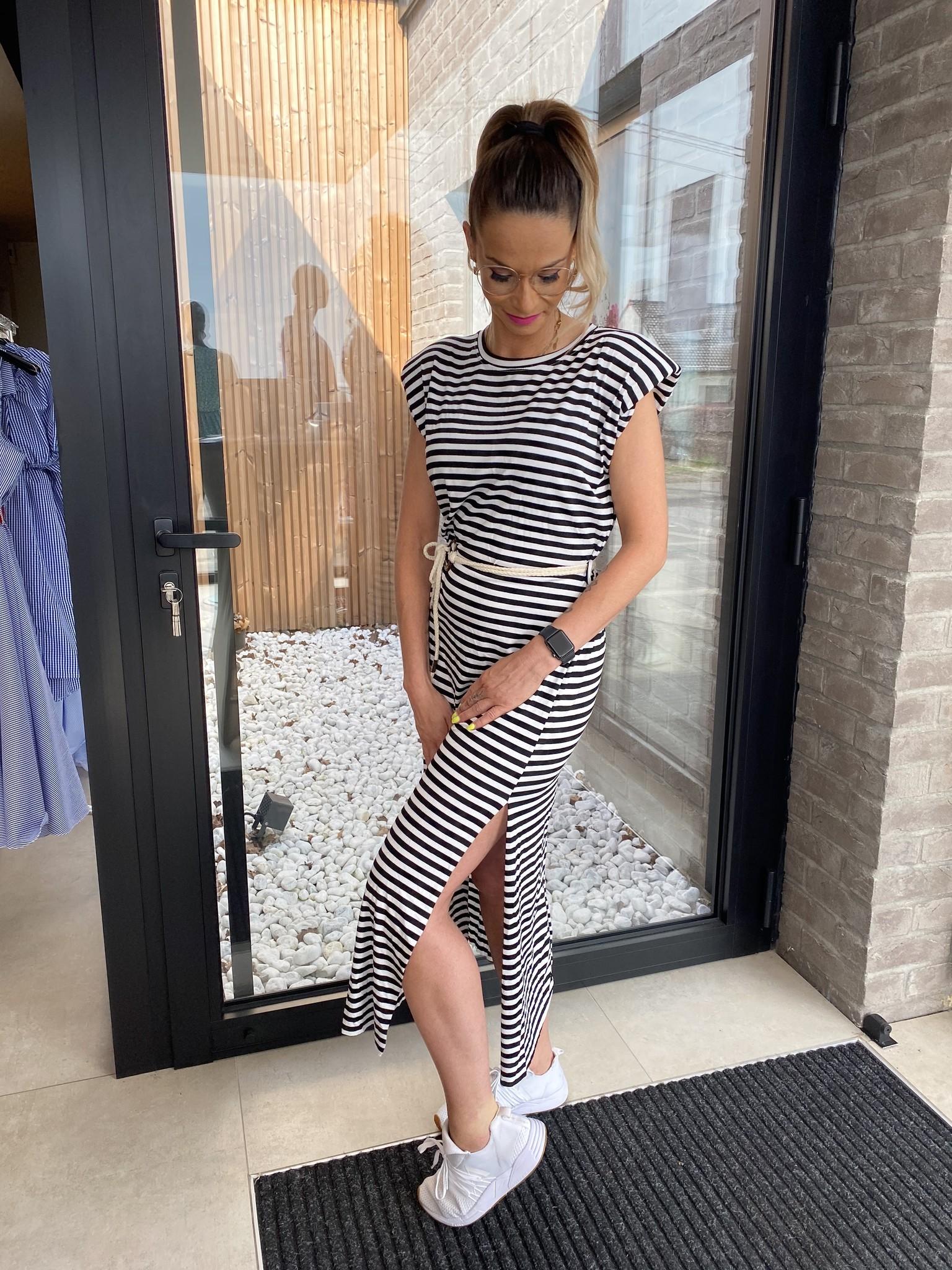 Marine Dress Stripe Black