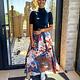 Skirt Donna Blue/fushia