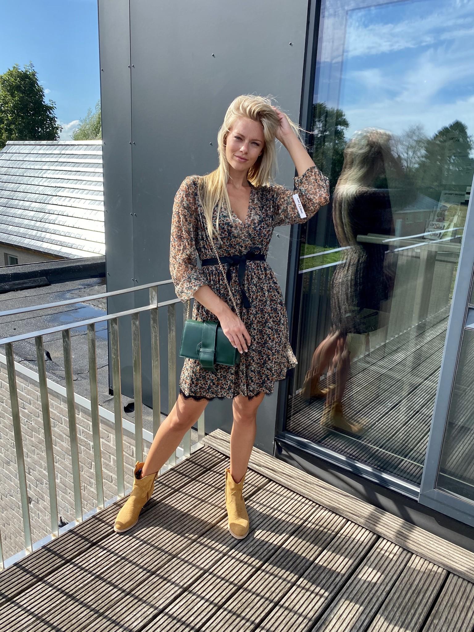 Dress Vic Beige/Green TU