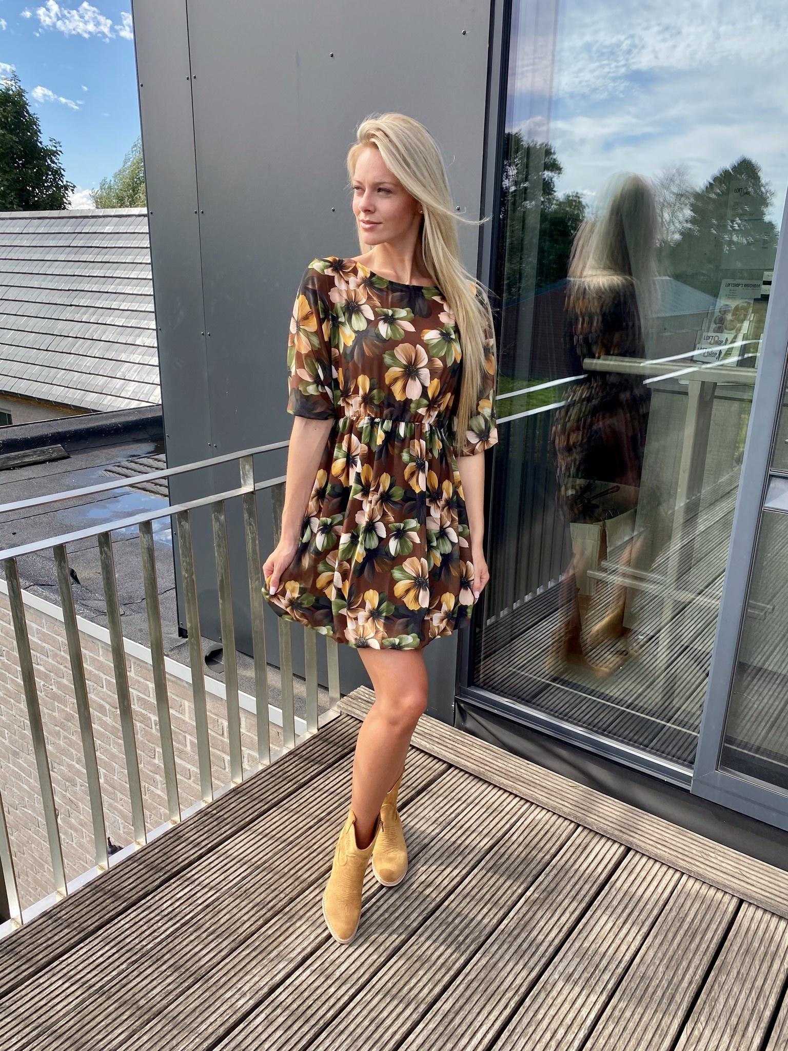 Dress Flora Brown TU