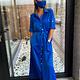 Beau et Lou Dress Rachel pocket blue