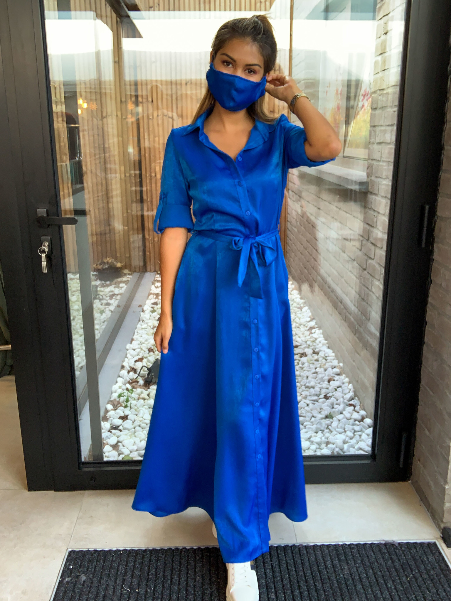 Beau et Lou Dress Esmee bleu
