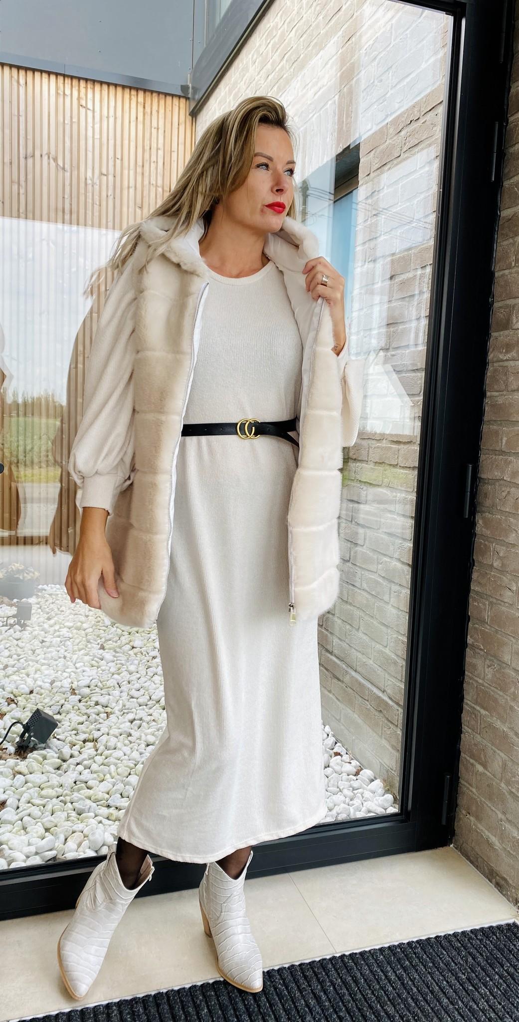 Dress Xenia Long Off White TU