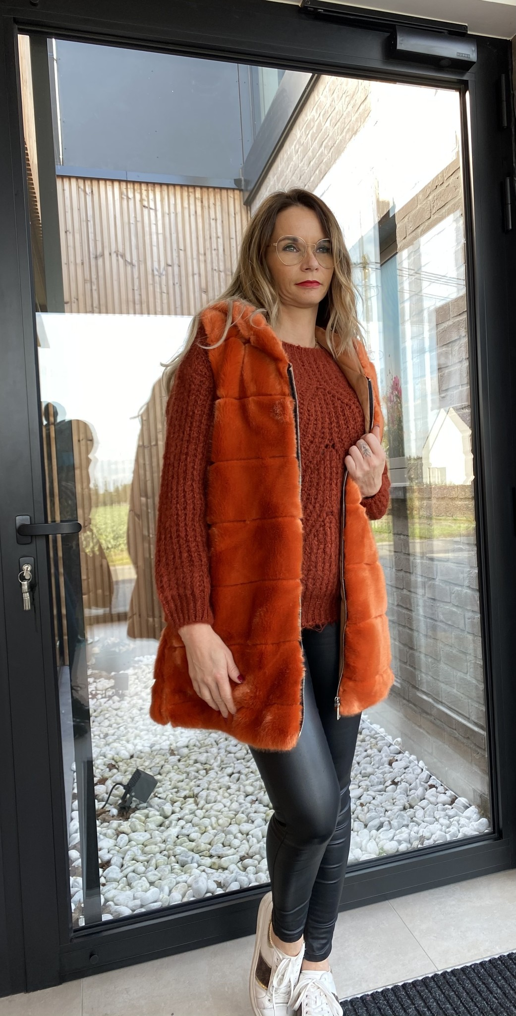 Pull Lizette Boothals Roest TU