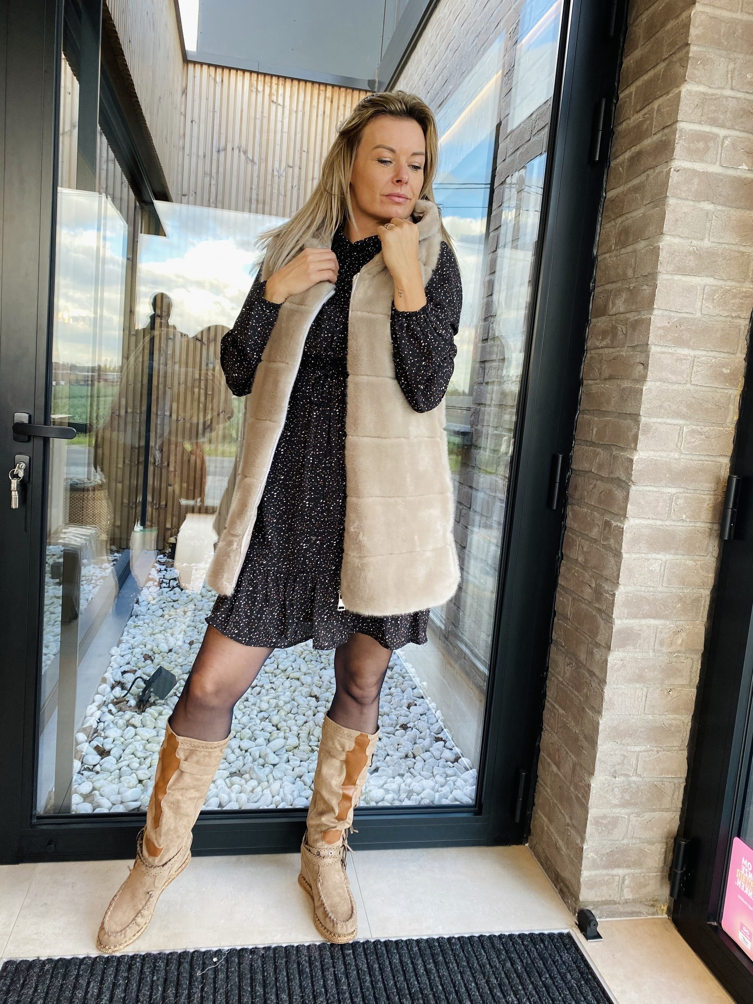 Dress Gaby Black/Brown