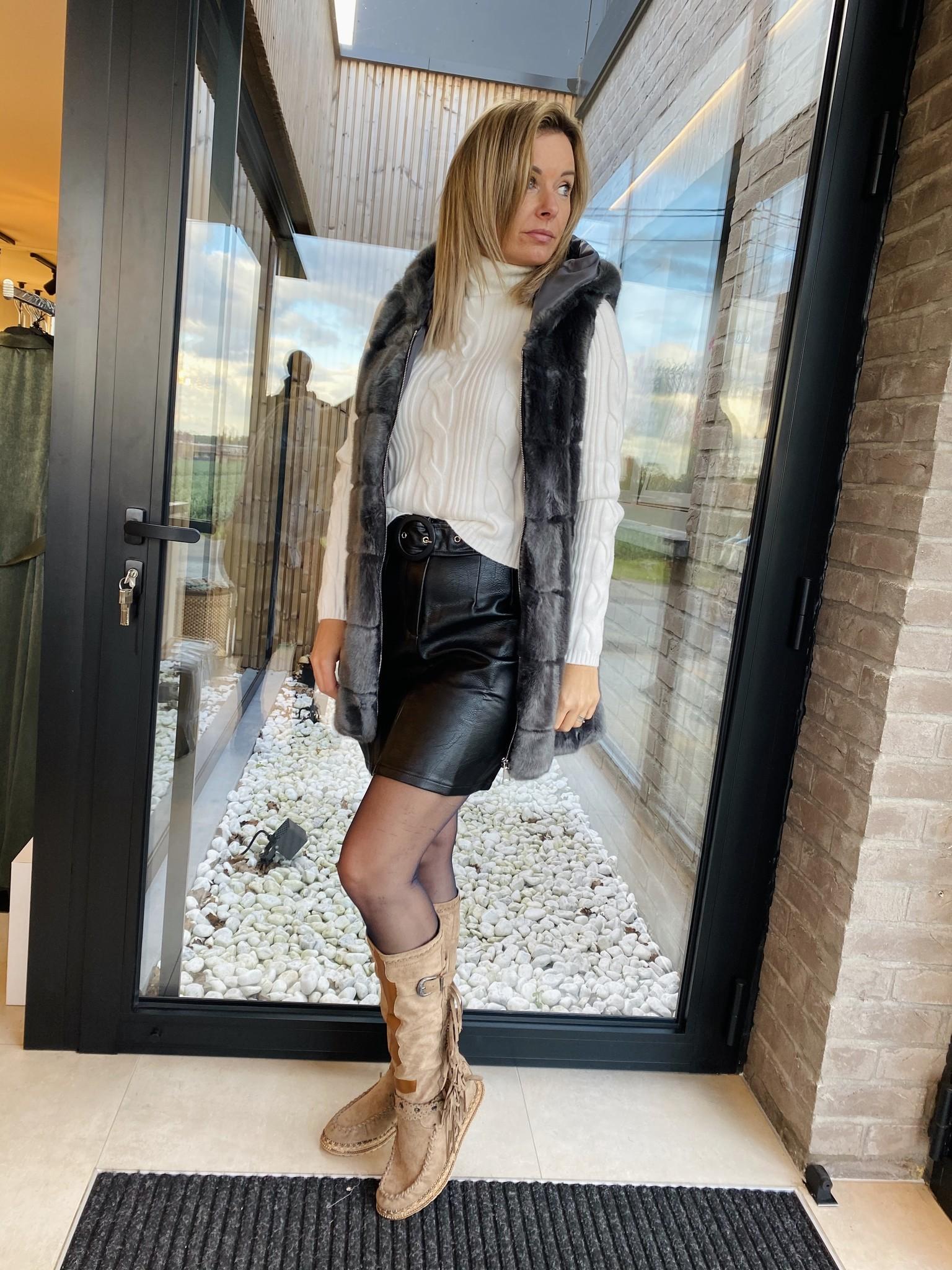 Skirt Salomé Zwart